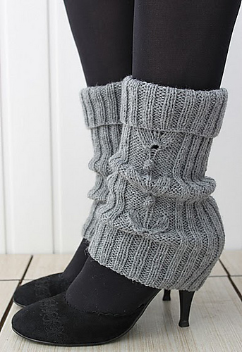 Free Knitting Pattern for Grey-Grey Legwarmers