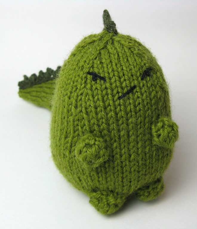 Free Knitting Pattern for Grumpasaurus Toy