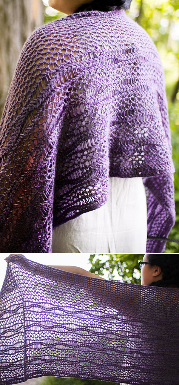 Free Knitting Pattern for Guild Park Shawl