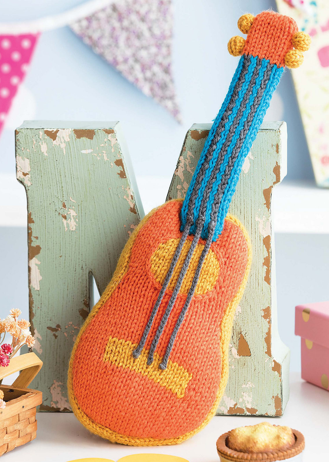 Knitting Pattern for Guitar Toy