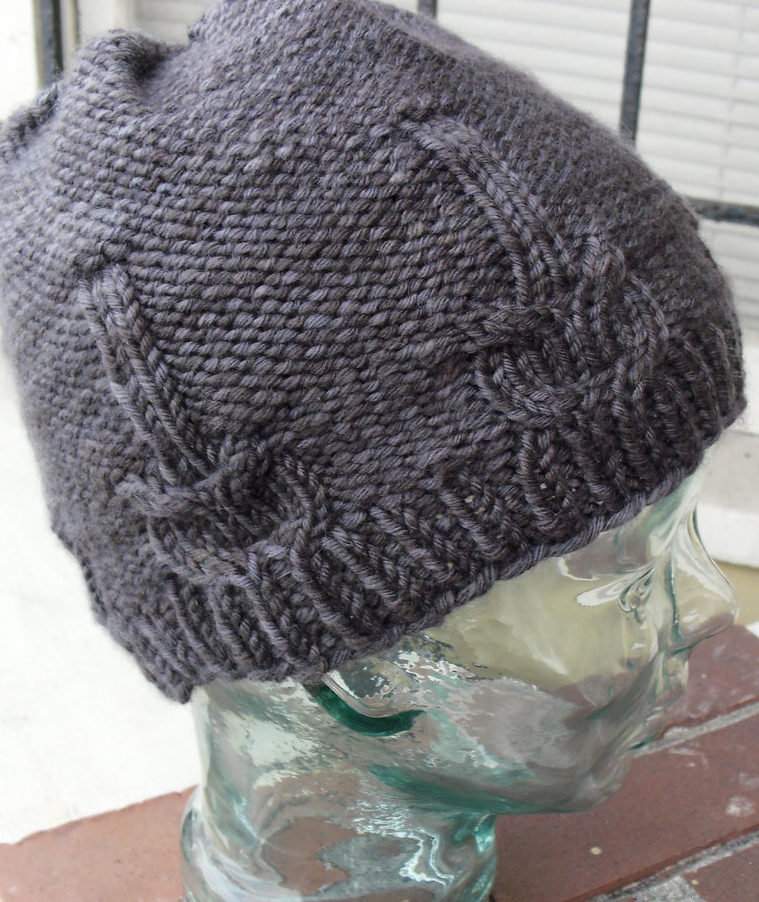 Knitting Pattern for Guitar Cable Hat