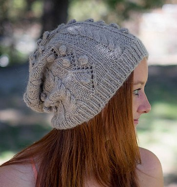 Free knitting pattern for slouchy Gwen Stacy hat and more movie and tv knitting paterns