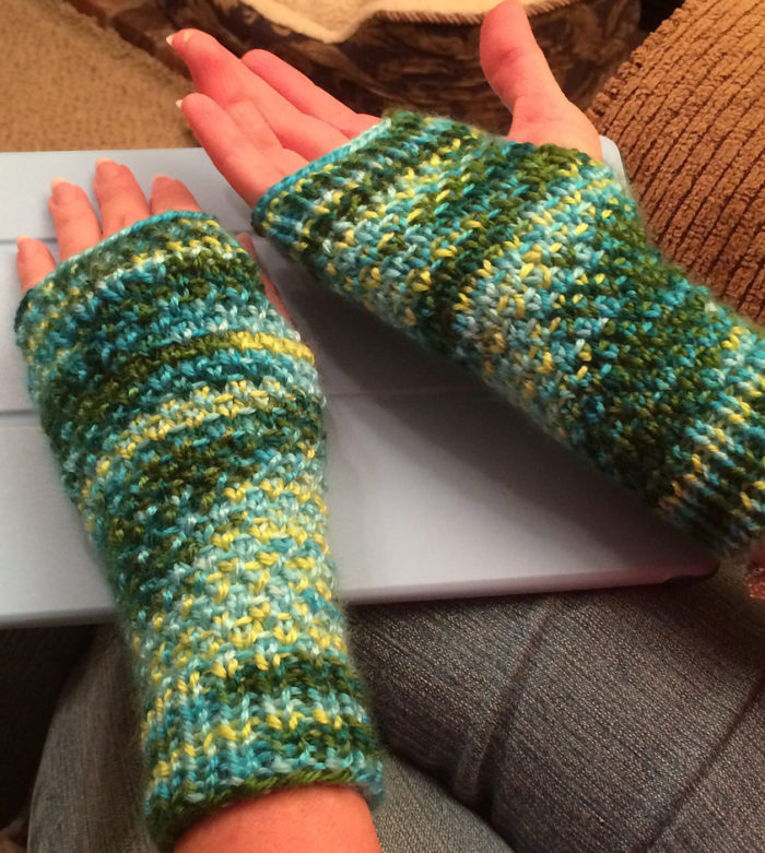 Free Knitting Pattern for Half-Linen Cozies