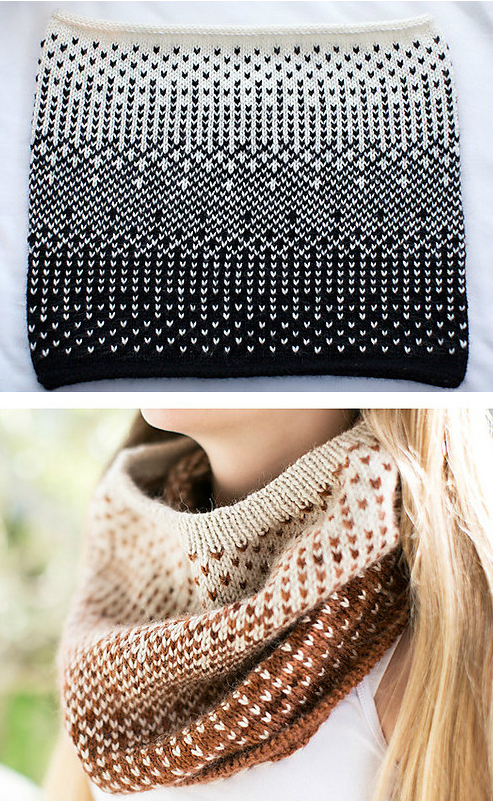 Knitting Pattern for Half-Tone Cowl