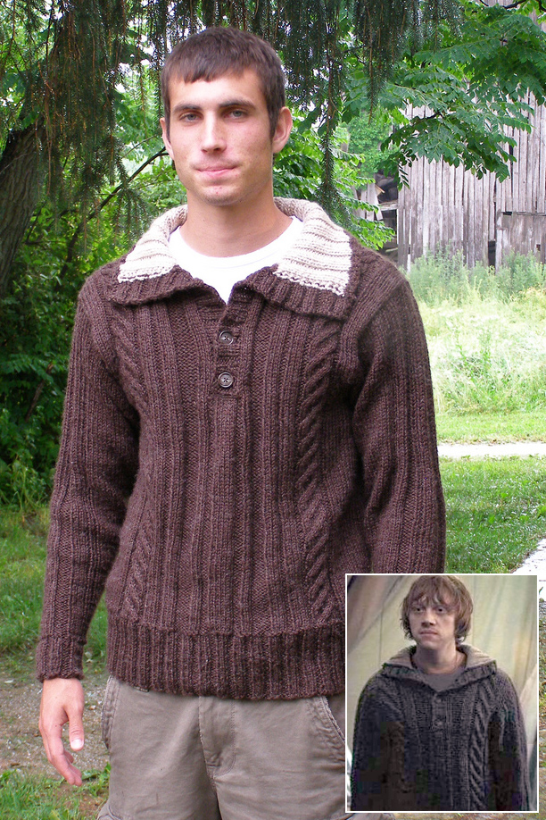 Knitting Pattern for Harry Potter Inspired Hallows Pullover