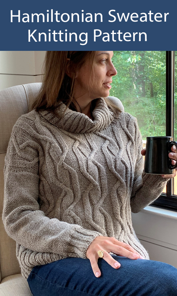 Sweater Knitting Pattern Hamiltonian Cable Pullover