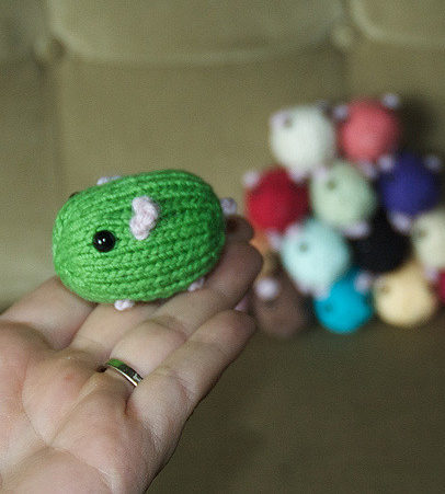 Free Knitting Pattern for Hamster Bean Toy
