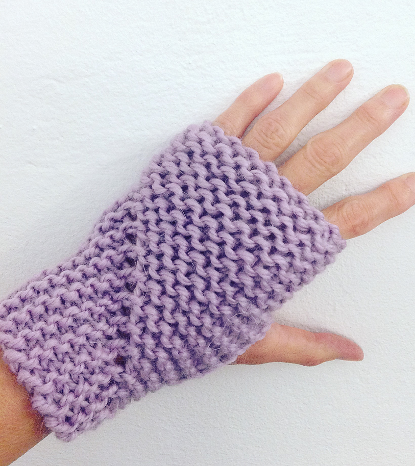 Free Knitting Pattern for Easy Hand Sleeves