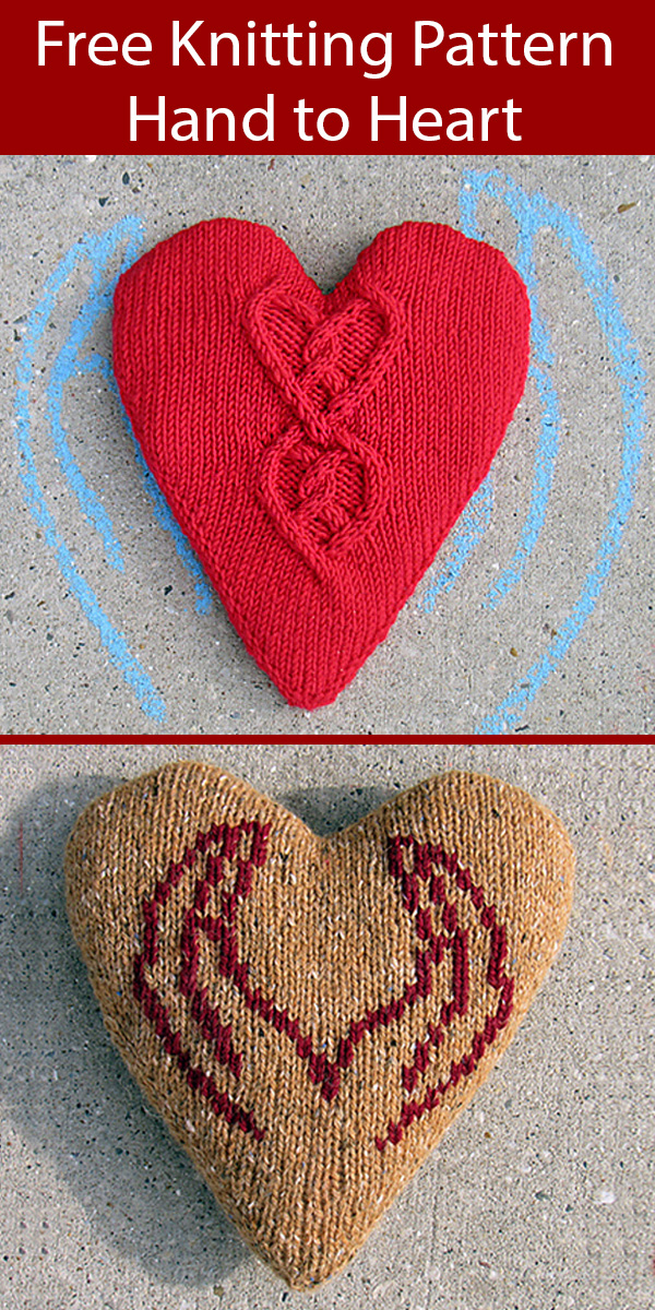 Free Knitting Pattern for Hand to Heart