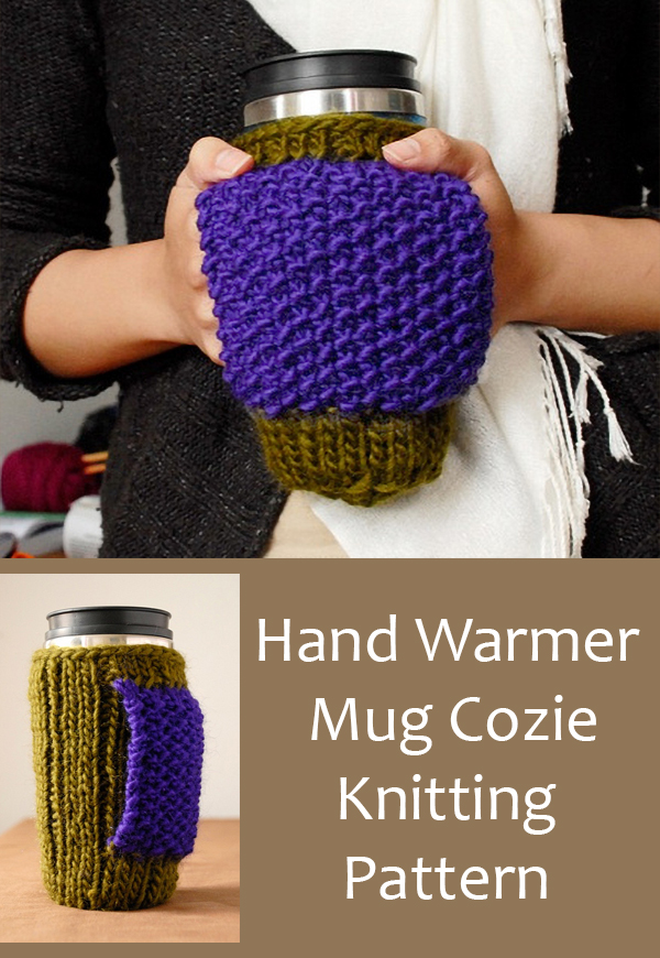 Knitting Pattern Set for Hand Warmer Mug Cozie