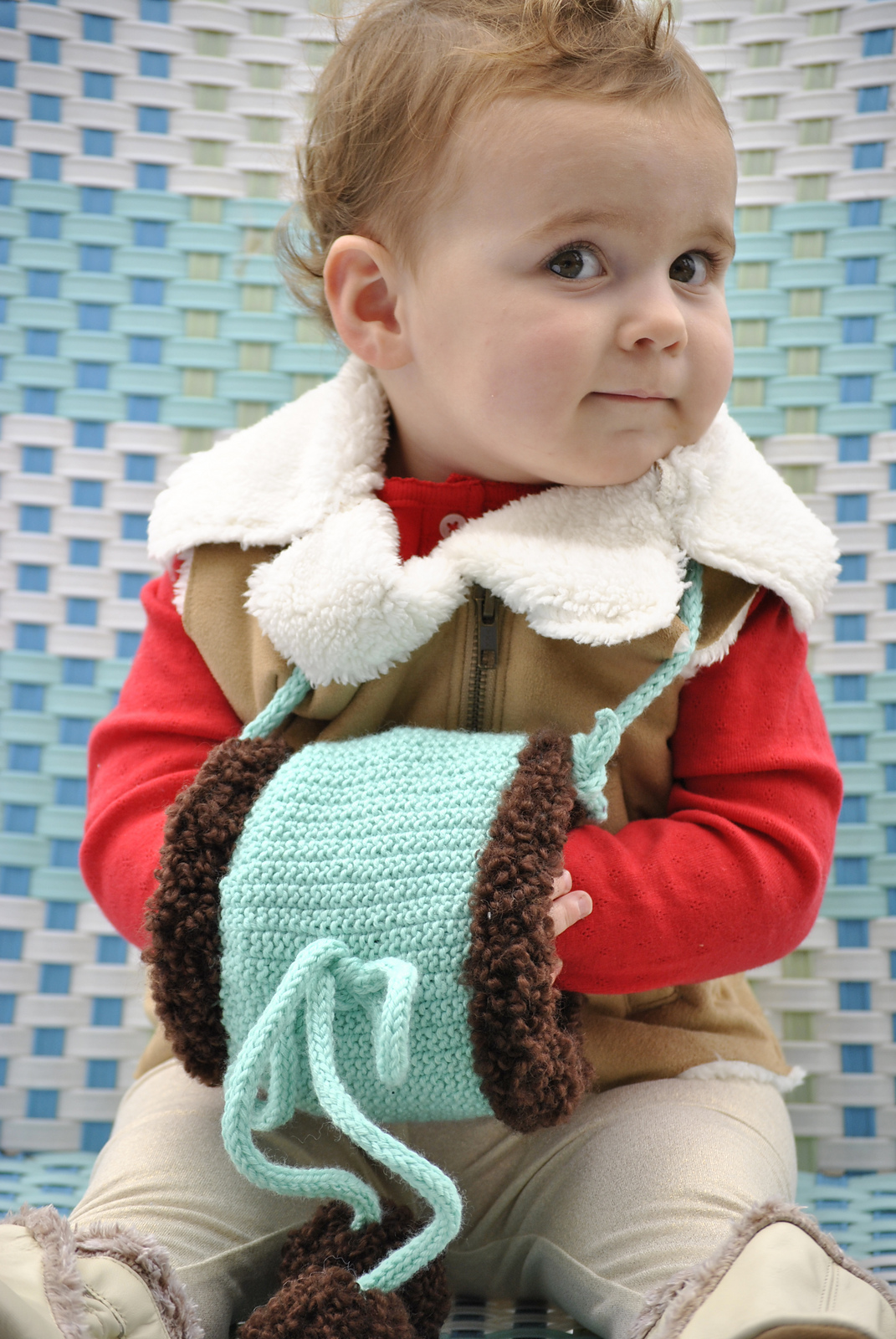 Free Knitting Pattern for Handwarmer Muff