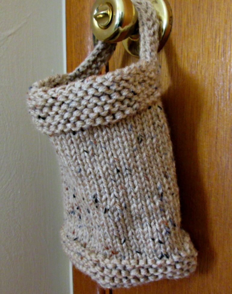Knitting pattern for Hanging Basket