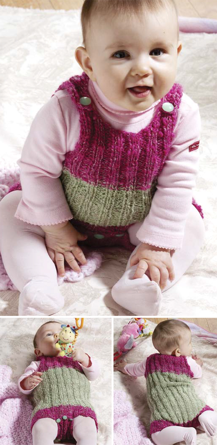 Free Knitting Pattern for Hannah's Onesie