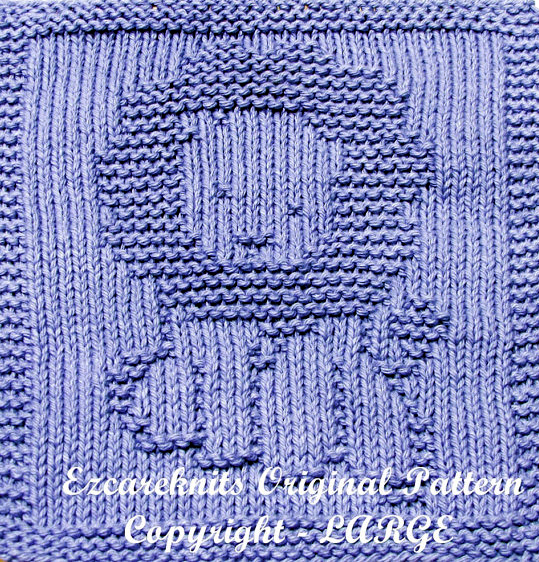 Knitting pattern for Happy Lion Wash Cloth