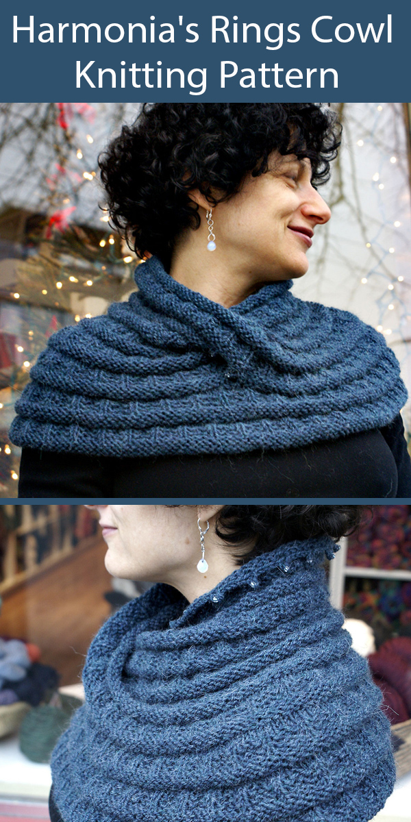 Knitting Pattern for Harmonia's Rings Cowl