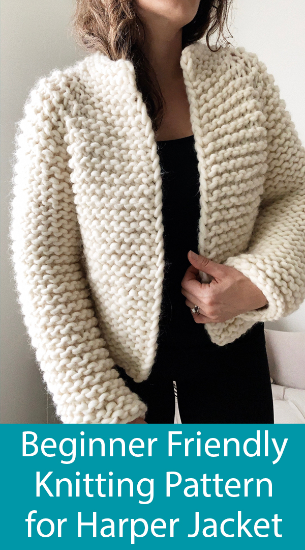 Knitting Pattern for Beginner Friendly Harper Jacket