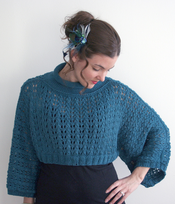 Free Knitting Pattern for Harper Poncho