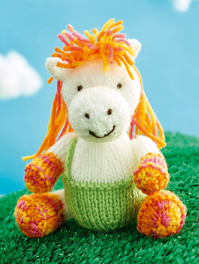 Free Knitting Pattern for Harriet the Horse Toy