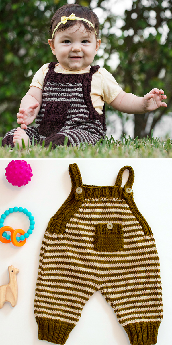 Free Knitting Pattern for Bambino Romper