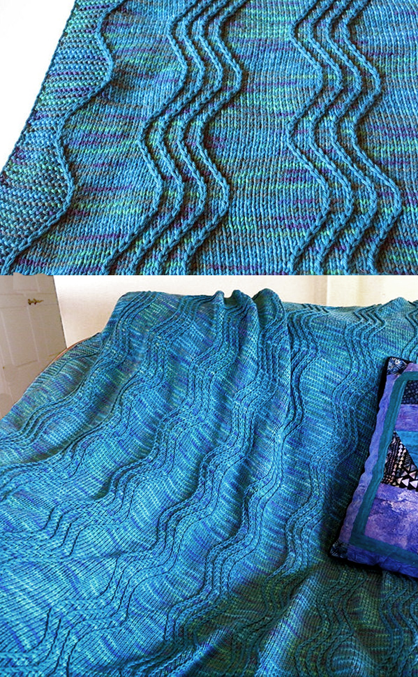 Knitting Pattern for Hawaiian Dreams Blanket
