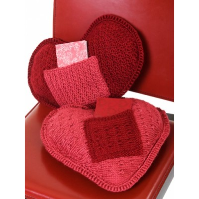 Heart Pillow with Pocket Free Knitting Pattern and more pillow knitting patterns