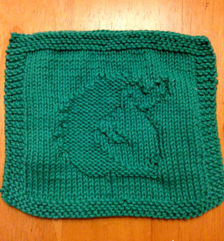 Free Knitting Pattern for Hedgehog Wash Cloth