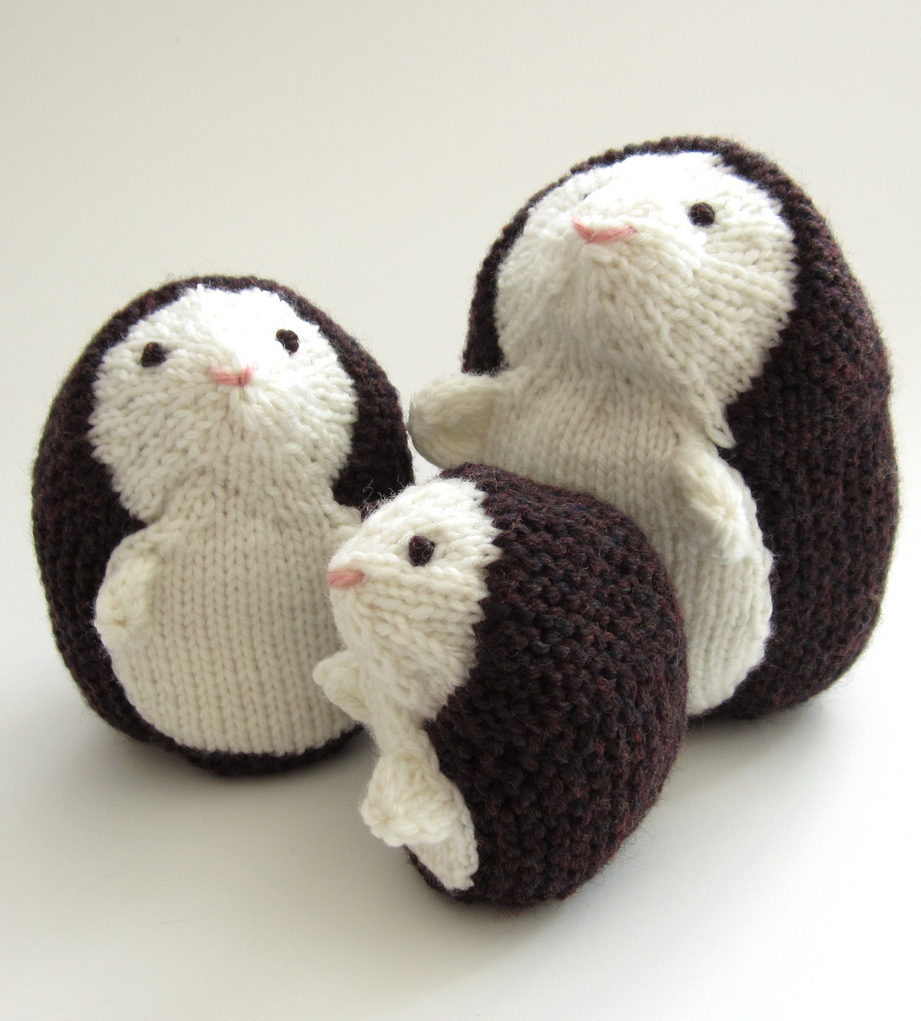 Knitting Patterns for Hedgehog Family Toys