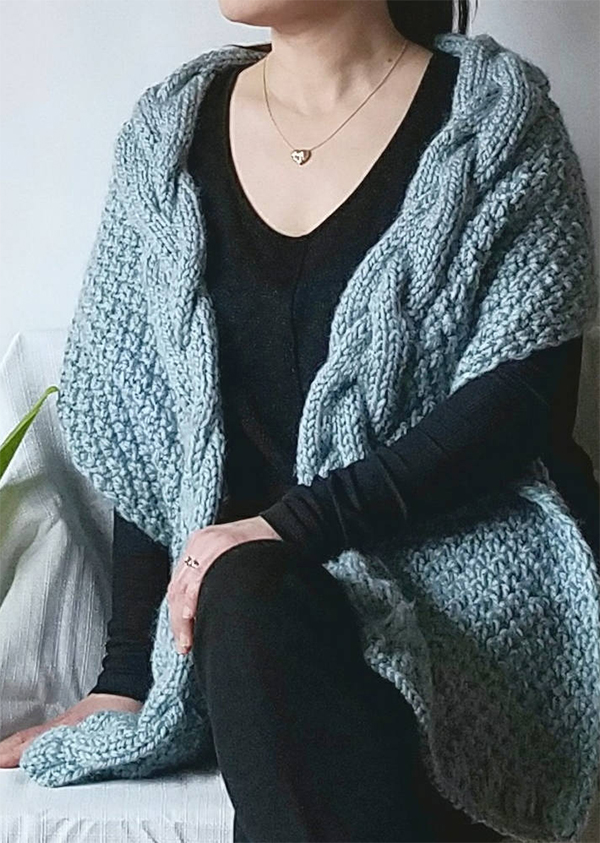 Knitting pattern for Helena Shawl