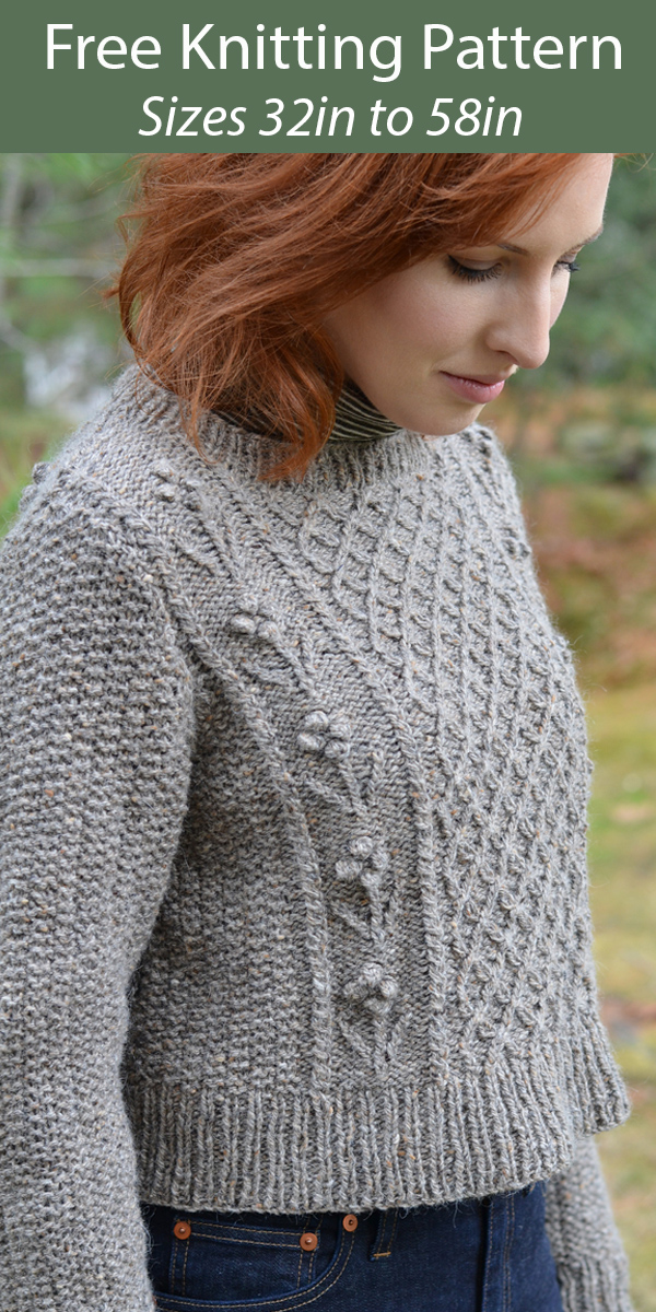 Free Sweater Knitting Pattern for Helga Pullover