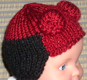 Free knitting pattern for Hellboy Baby Hat