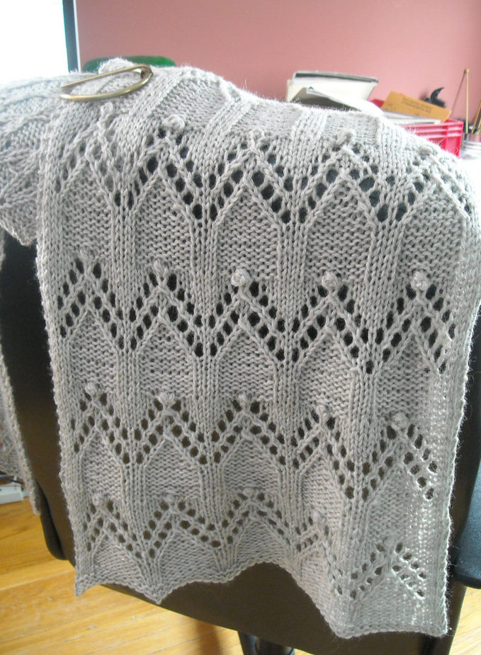 Free Knitting Pattern for Helms Deep Wrap