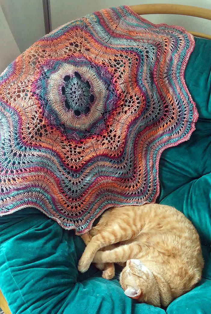 Free Knitting Pattern for Hemlock Ring Blanket