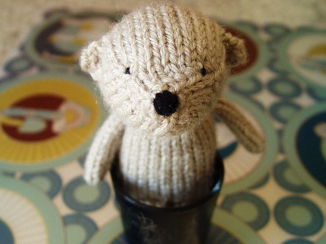 Free knitting pattern for Henri small bear toy and more teddy bear knitting patterns