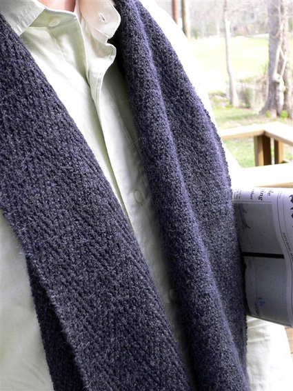 Free knitting pattern for Henry scarf and and more knitting patterns for men
