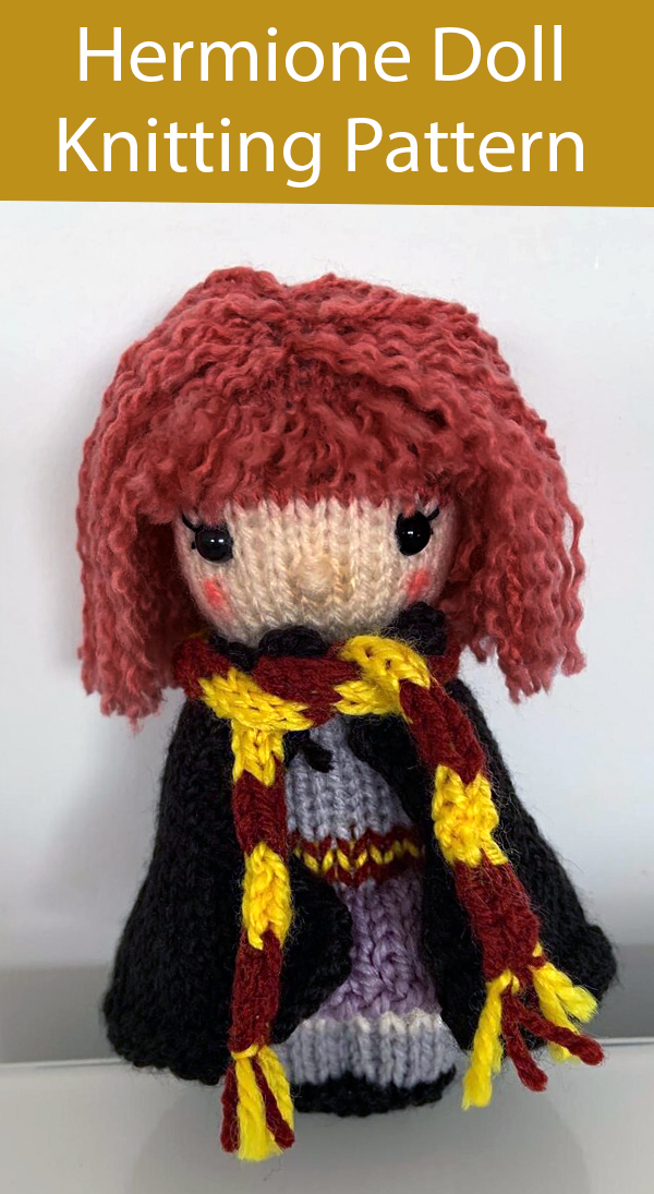 Knitting Pattern for Hermione Doll Inspired by Harry Potter Series