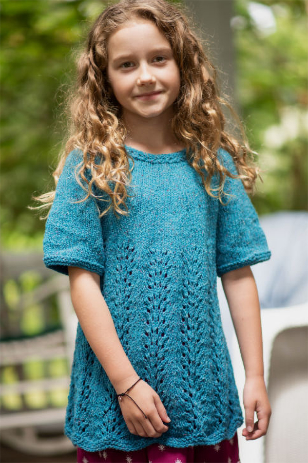 Free Knitting Pattern for 4-Row Repeat Hermione Dress