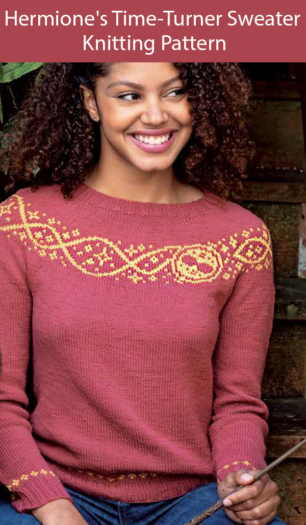 Knitting Pattern for Hermione's Time-Turner Sweater Sizes XS to 6XL
