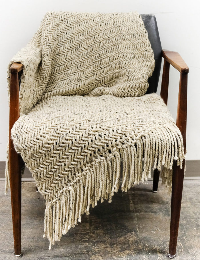 Knitting Pattern for Chunky Herringbone Blanket