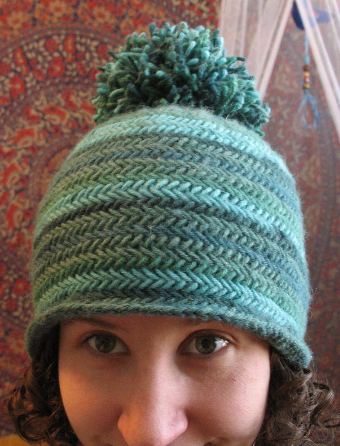 Free Knitting Pattern for Herringbone Hat