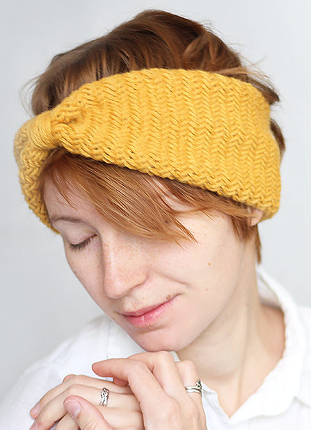 Knitting Pattern for Herringbone Headband