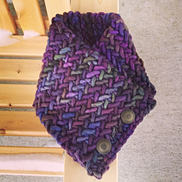 Free knitting pattern for Herringbone Neckwarmer and more neck warmer knitting patterns