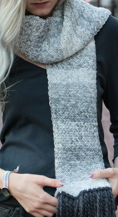 Free Knitting Pattern for Herringbone Scarf