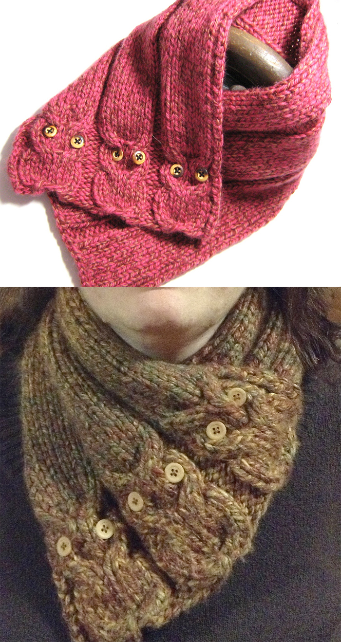 Knitting Pattern for Hidden Picture Neckwarmer