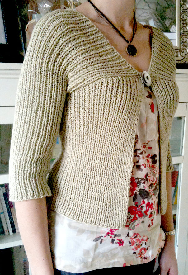 Free Knitting Pattern for Easy High Line Cardigan