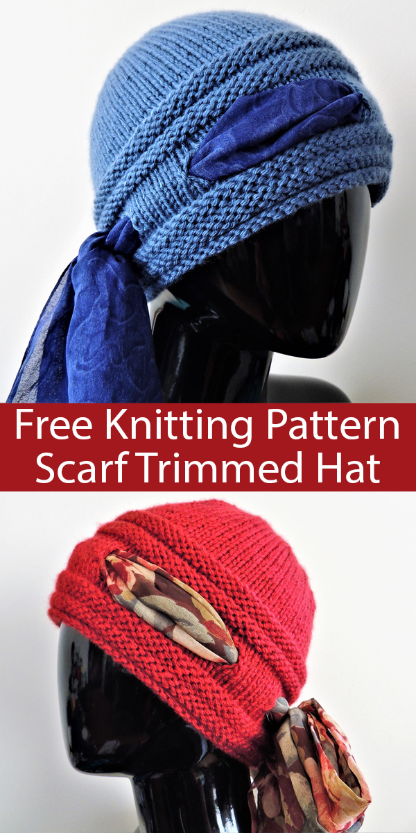 Free Pattern for Higher Love Scarf Trimmed Hat
