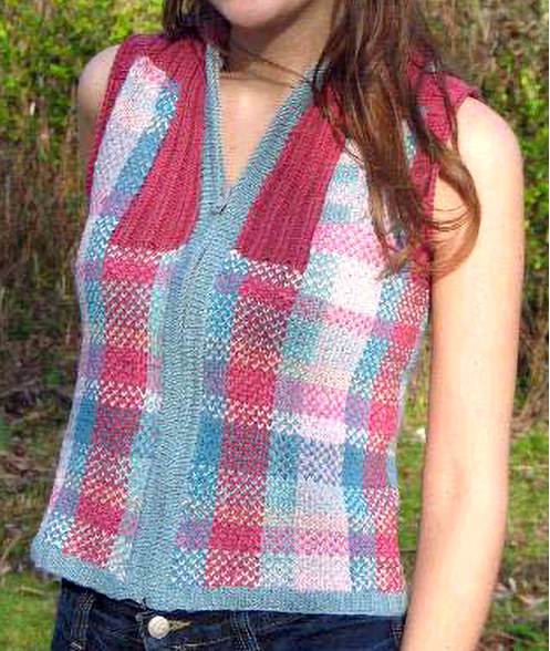 Free Knitting Pattern for Highland Spring Vest
