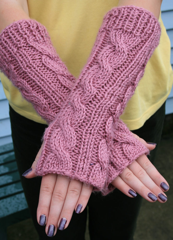 Free Knitting Pattern of Irish Hiking Scarf Mitts