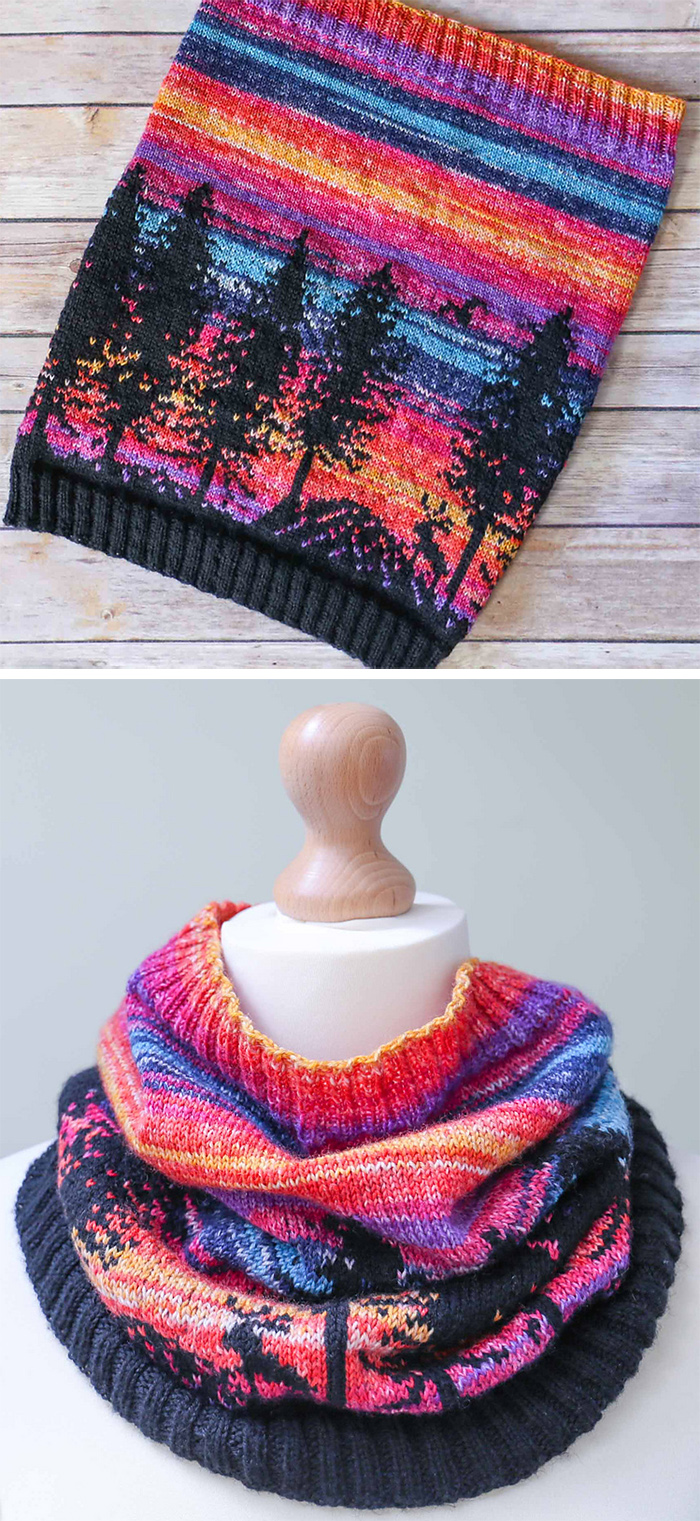 Free Knitting Pattern for Hiking Reindeer Cowl