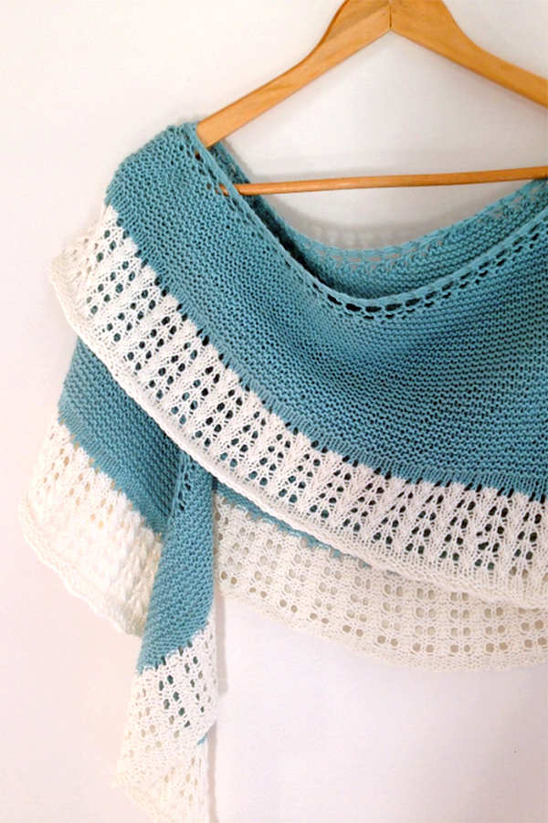 Free Knitting Pattern for Hill Island Wrap