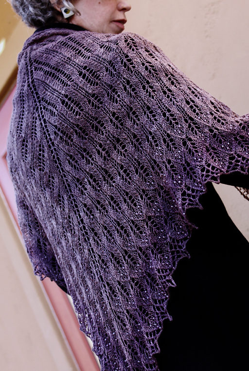 Free Knitting Pattern for Bitterroot Shawl